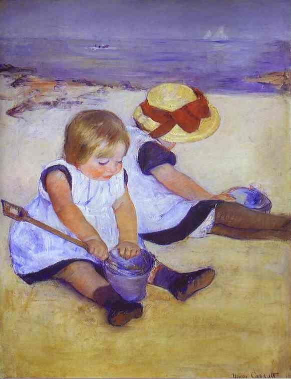 Mary Cassatt. Two Children at the Seashore.