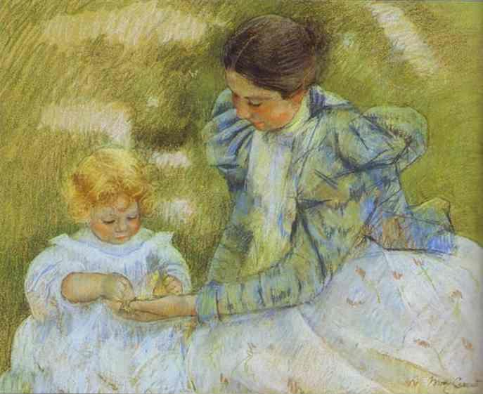 Mary Cassatt. Mother Playing with Her Child.