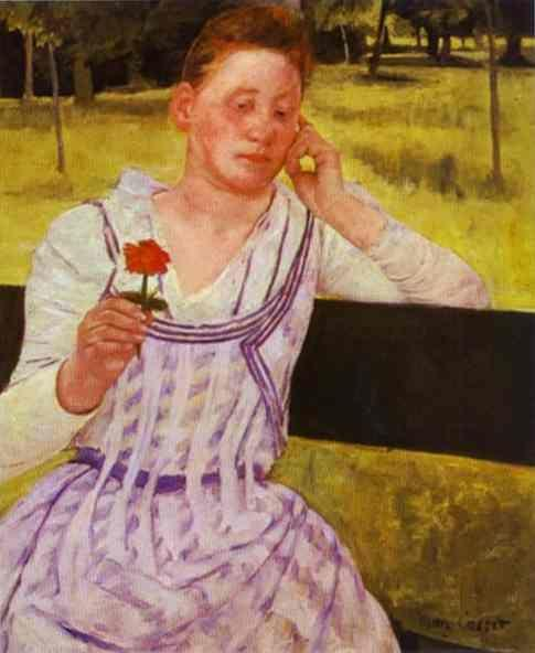 Mary Cassatt. Woman with a Red Zinnia.