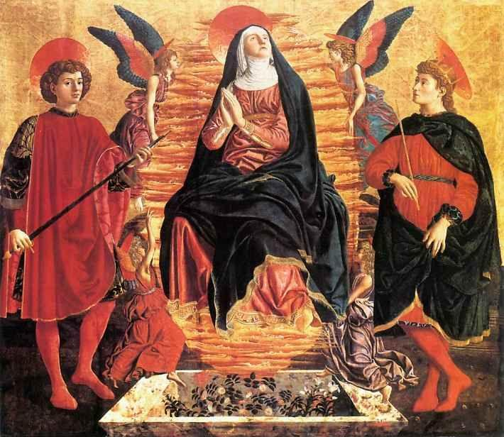 Andrea del Castagno. The Assumption of the Virgin with SS. Julian and Miniato.