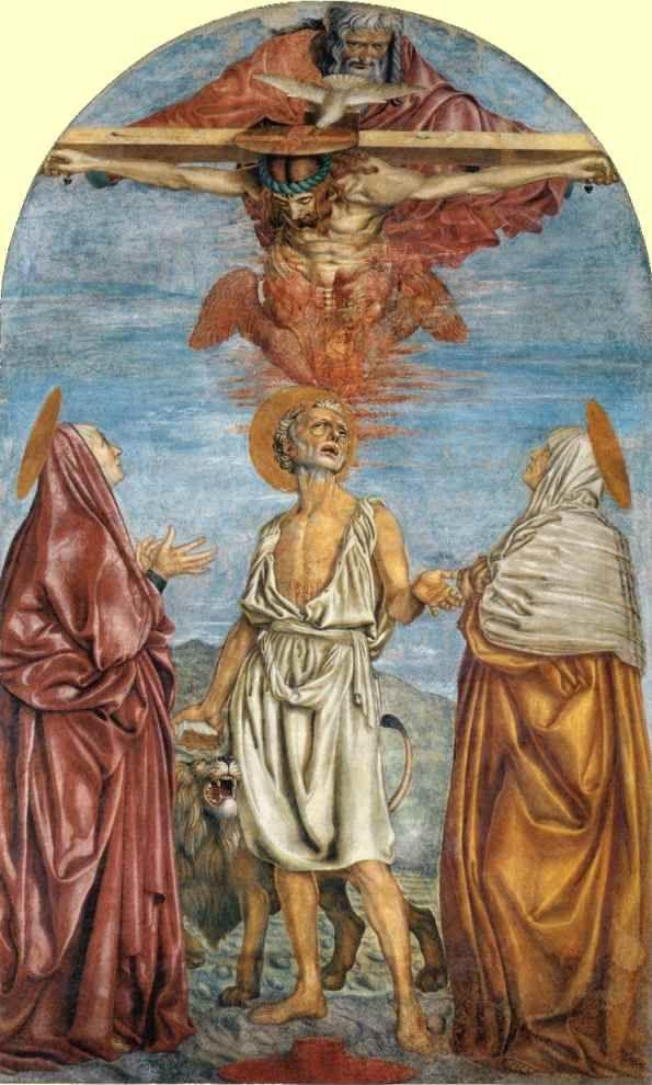 Andrea del Castagno. The Vision of St. Jerome.