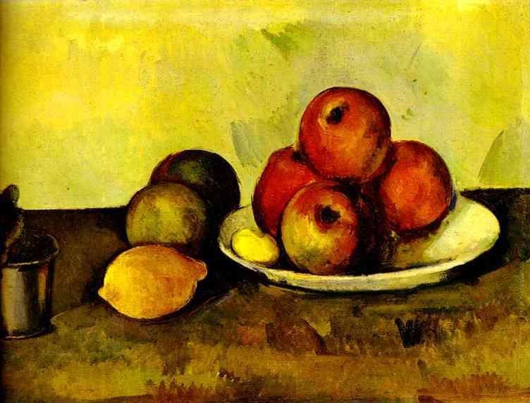 Paul C 233 Zanne Still Life With Apples Nature Morte Les Pommes