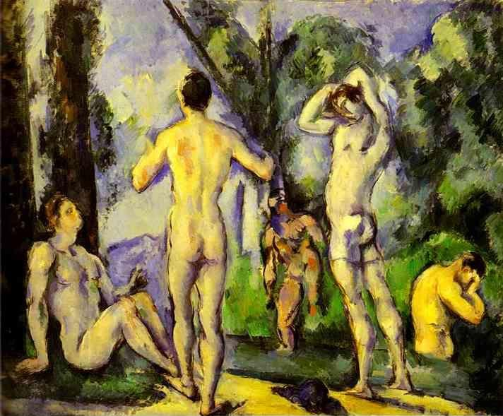 Paul Cézanne. Bathers in the Open Air (Baigneurs en plein air).