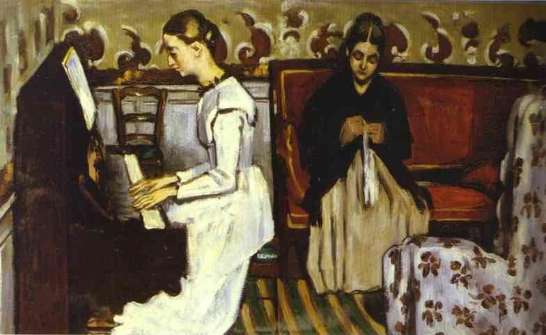 Paul Cézanne. Girl at the Piano (Overture to Tannhäuser). Portrait of the Artist's Sister and Mother.