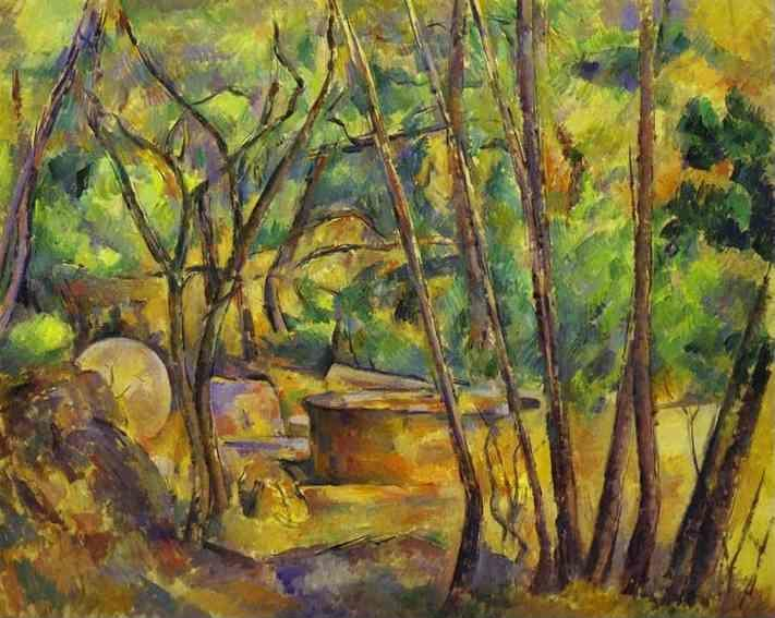 Paul Cézanne. Grindstone and Cistern in a Grove.