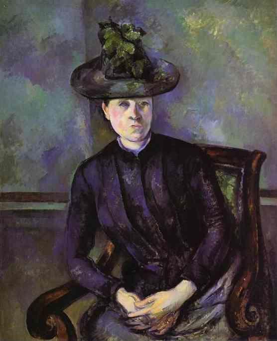 Paul C 233 Zanne Portrait Of A Woman In Green Hat Mme