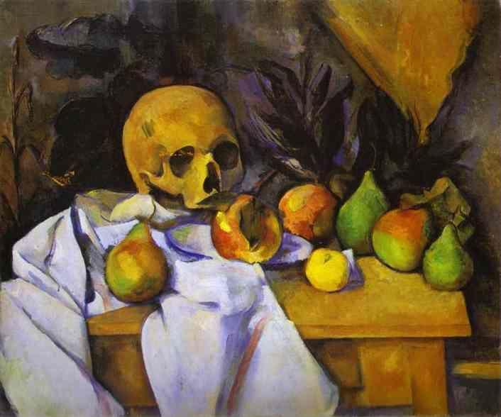 Paul Cézanne. Still Life with a Skull.