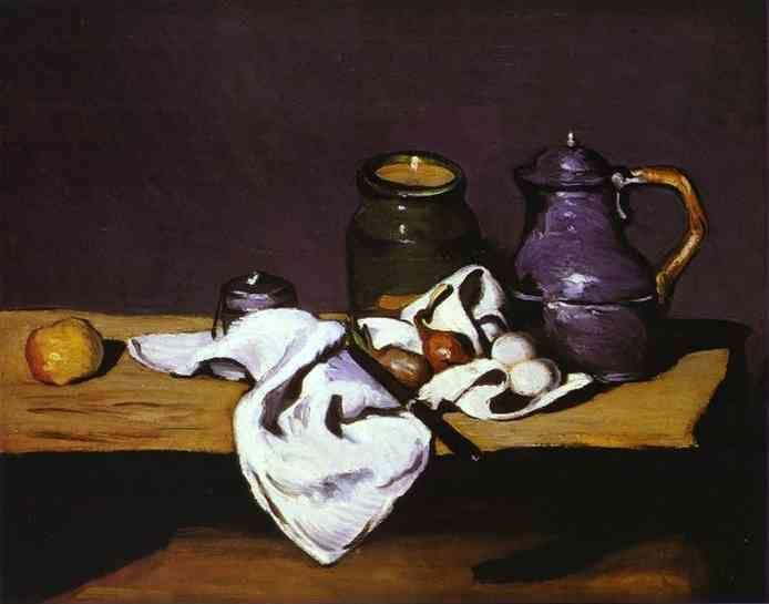 Paul Cézanne. Still Life with Kettle.