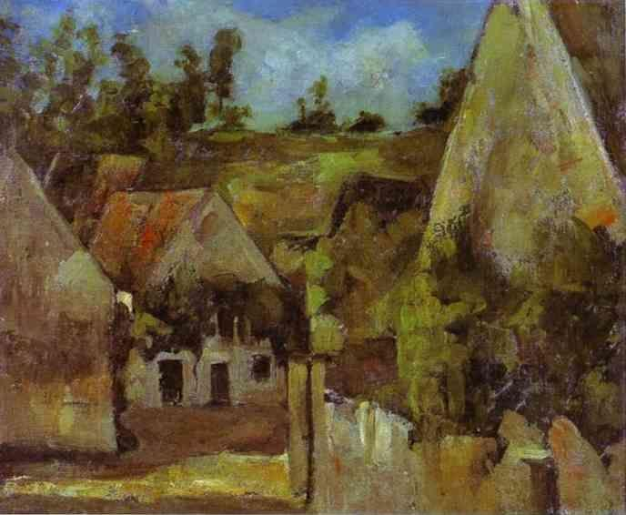 Paul Cézanne. Crossroad of the Rue Remy, Auvers.