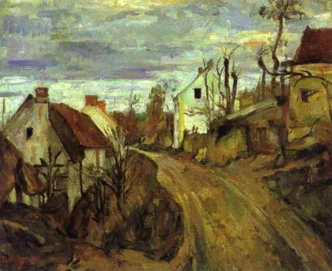 Paul Cézanne. Village Road, Auvers.