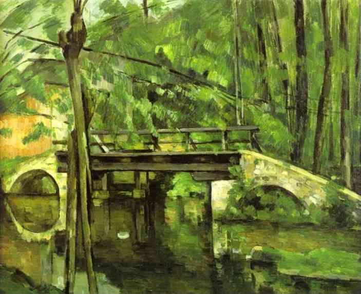 Paul Cézanne. The Bridge of Maincy near Melun.