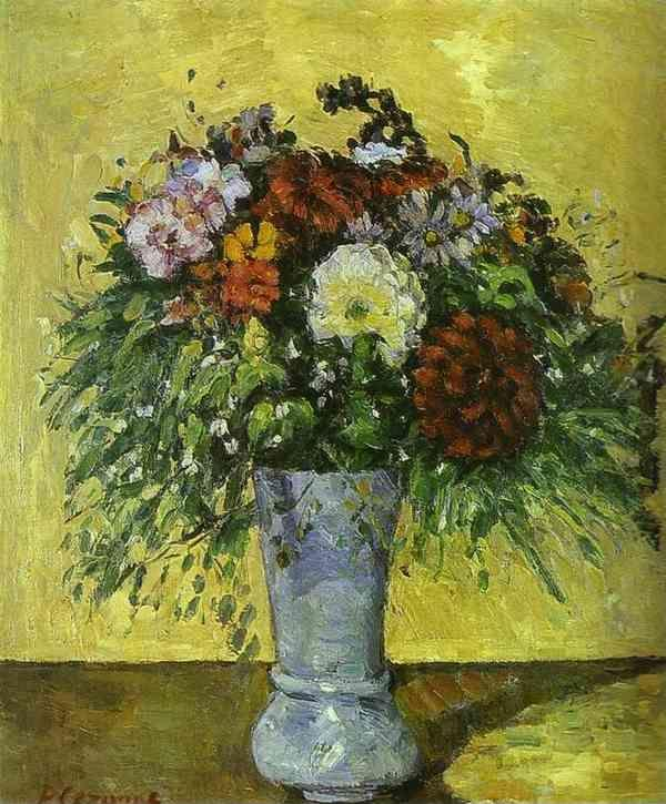 Paul Cézanne. Flowers in a Blue Vase.