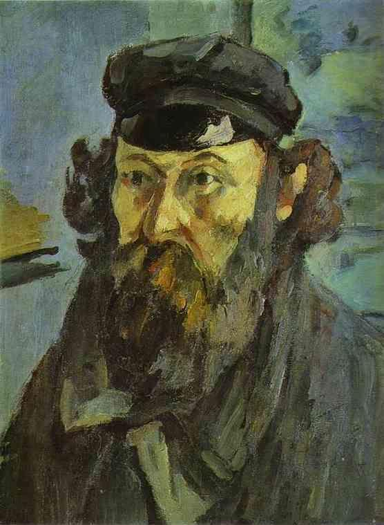 Paul Cézanne. Self-Portrait with a Casquette.