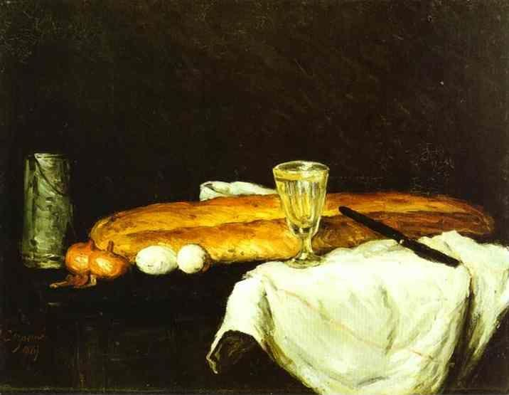 Paul Cézanne. Bread and Eggs.