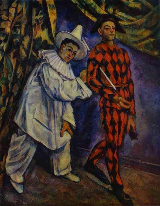 Paul Cézanne. Pierrot and Harlequin.