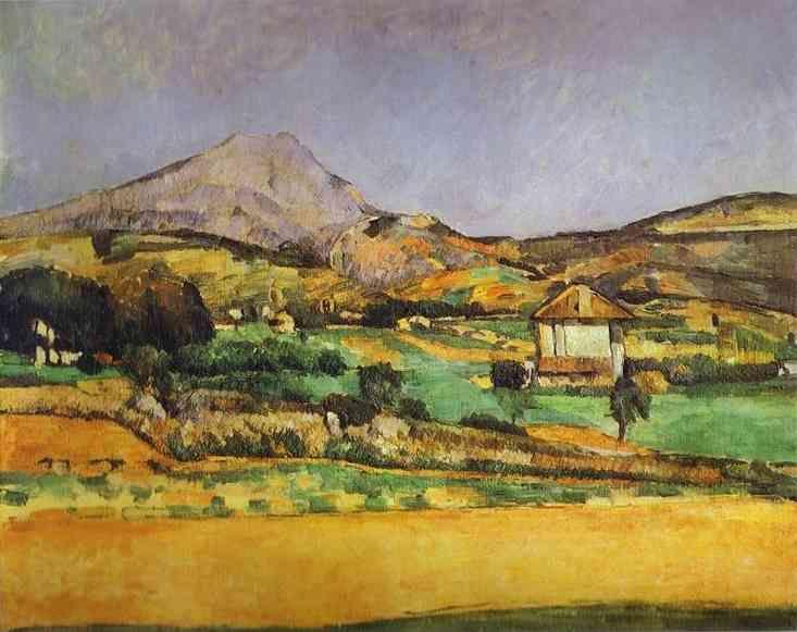 Paul Cézanne. Plain by Mount Sainte-Victoire.