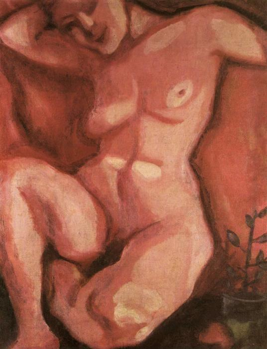 Marc Chagall. Red Nude Sitting Up.