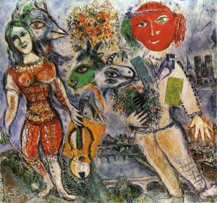 Marc Chagall. The Players.