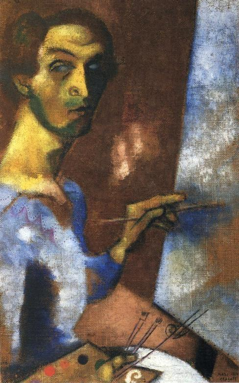 Marc Chagall. Self-Portrait with Easel.