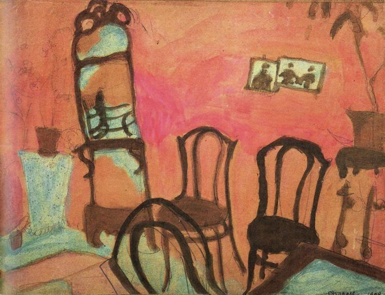 Marc Chagall. Small Drawing Room.