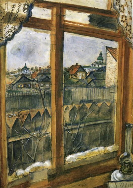 Marc Chagall. View from a Window. Vitebsk.