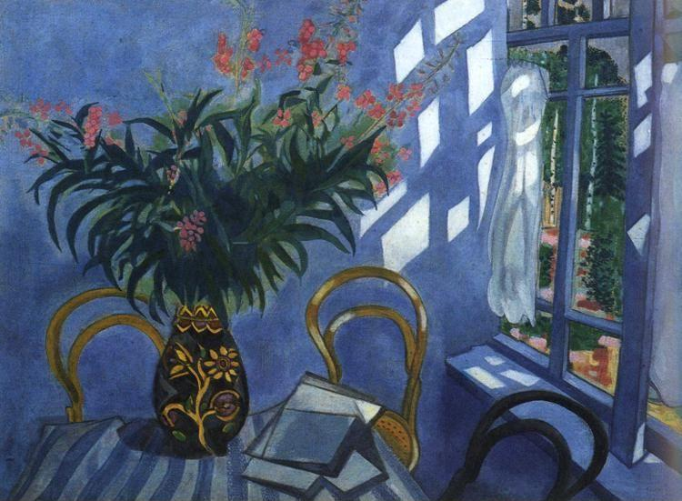 Marc Chagall. Interior with Flowers.