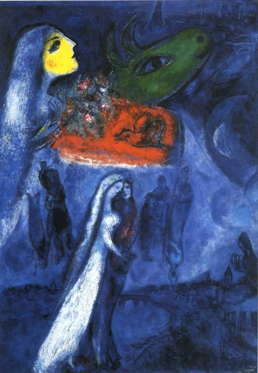 Marc Chagall. On Two Banks.