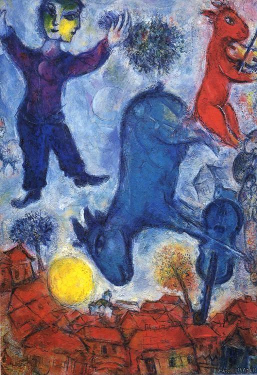 Marc Chagall. Cows over Vitebsk.