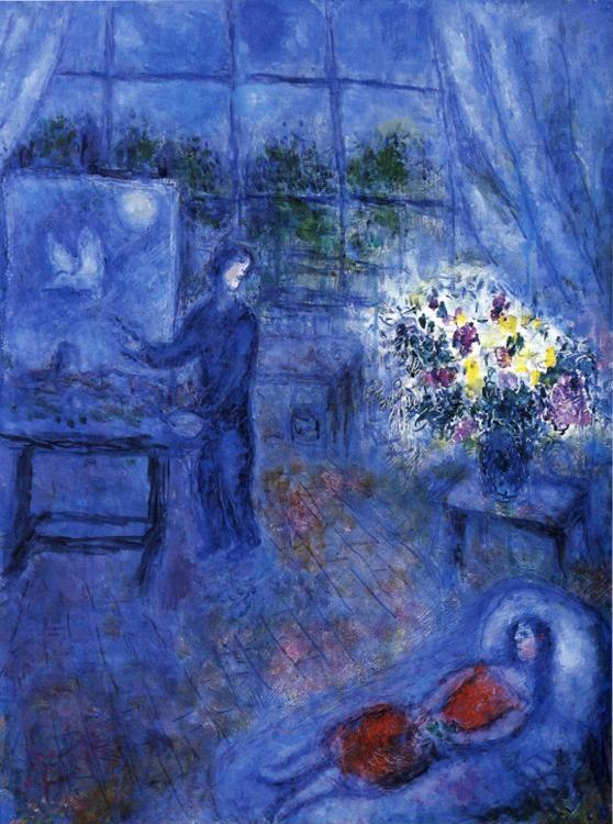 Marc Chagall. Artist and His Model.