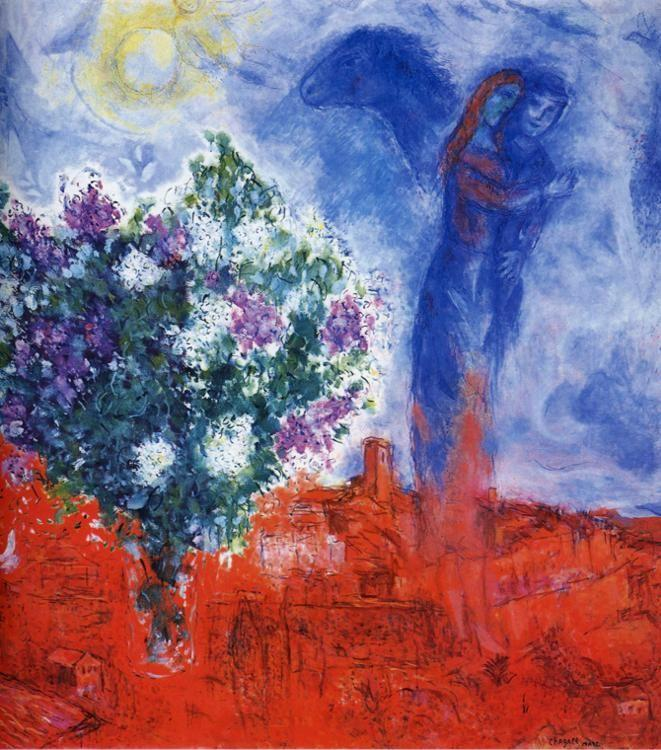 Marc Chagall. Lovers over Sant-Paul.
