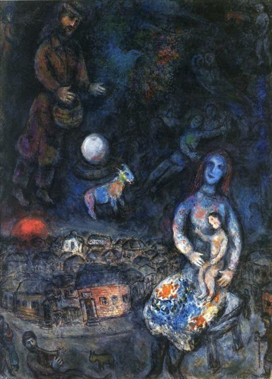 Marc Chagall. Holy Family.
