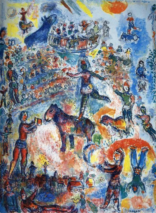 Marc Chagall. Great Circus.