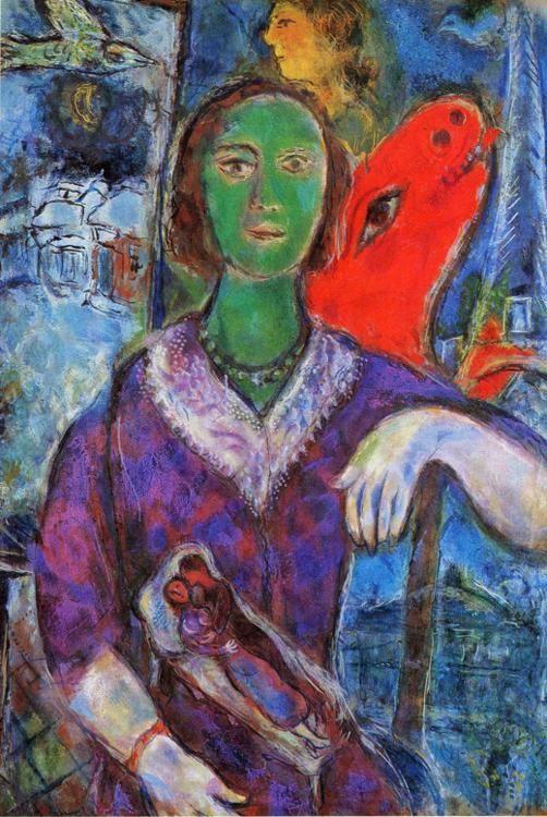 Marc chagall portrait of vava portrait de vava for Biographie de marc chagall