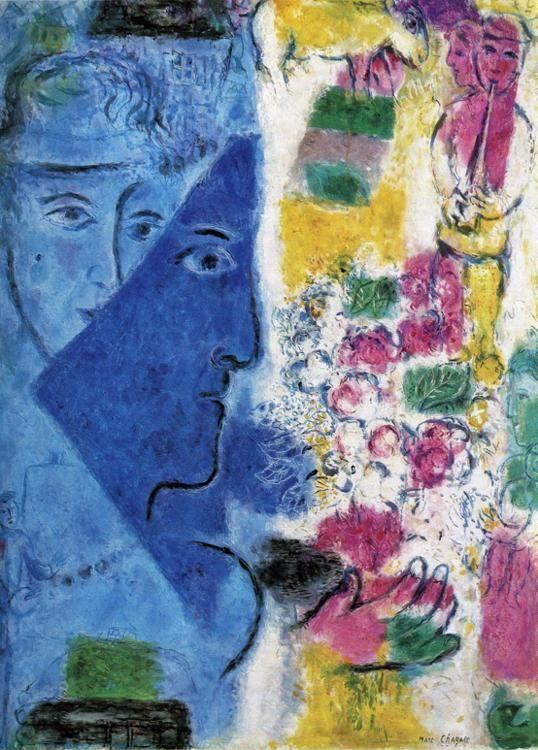 Marc Chagall. The Blue Face (Le visage bleu).