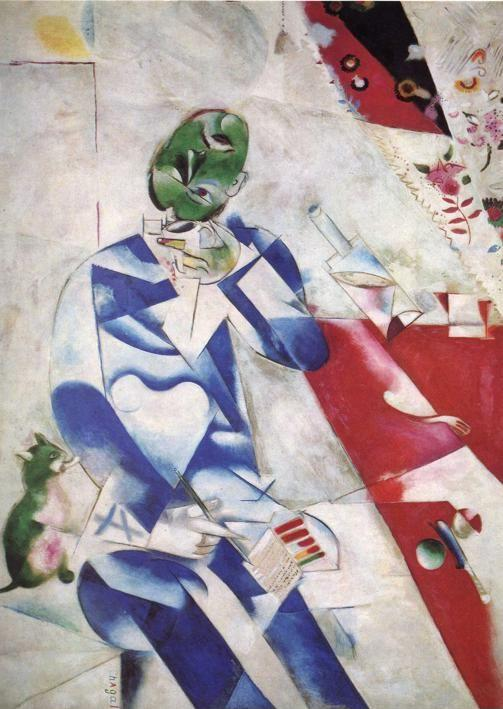 Marc Chagall. The Poet, or Half Past Three (Le poète, ou Half Past Three).