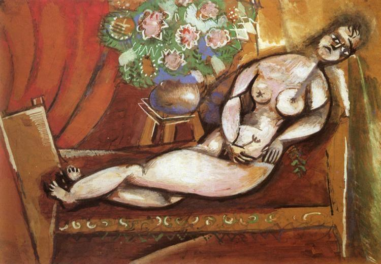 Marc Chagall. Reclining Nude.