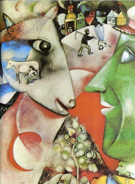 Marc Chagall. I and the Village.