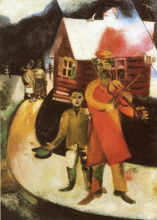 Marc Chagall. The Fiddler / Le violoniste.