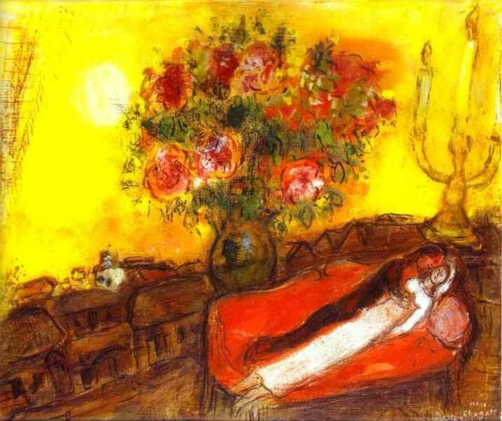 Marc Chagall. Le Ciel embrase.