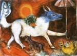 Marc Chagall. Cow with Parasol.