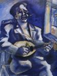 Marc Chagall. Portrait of Brother David with Mandolin.