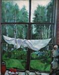Marc Chagall. Window in the Country. (Fenêtre à la campagne).