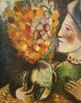 Marc Chagall. Woman with a Bouquet.