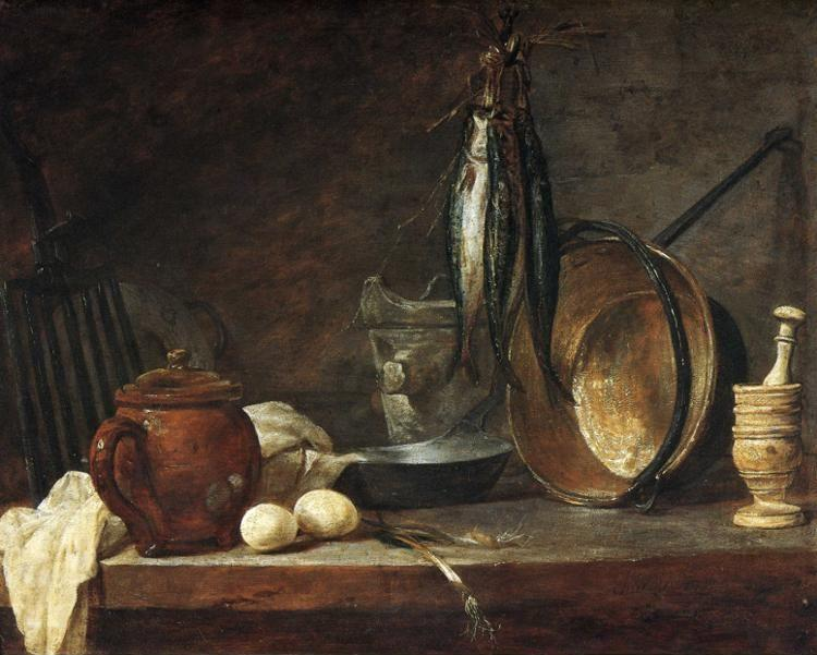 Jean-Baptiste-Simeon Chardin. The Fast Day Meal.