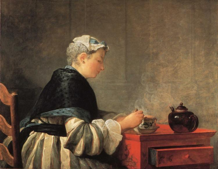Jean-Baptiste-Simeon Chardin. Lady Taking Tea.