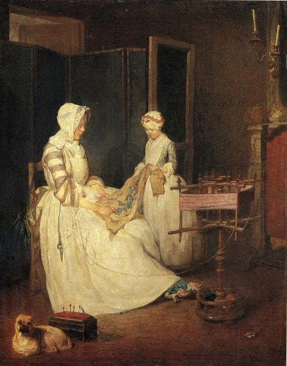 Jean-Baptiste-Simeon Chardin. The Diligent Mother.