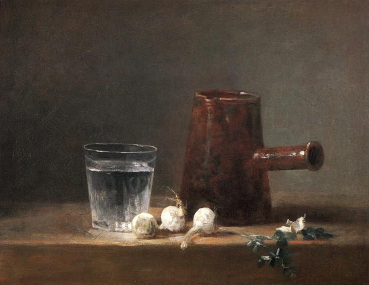 Jean-Baptiste-Simeon Chardin. Glass of Water and a Coffee Pot.