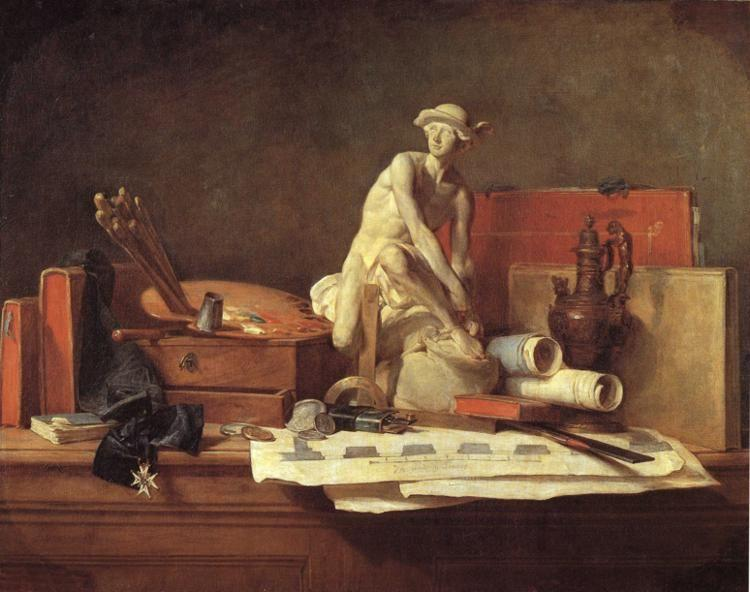 Jean-Baptiste-Simeon Chardin. The Attributes of the Arts and Their Rewards.