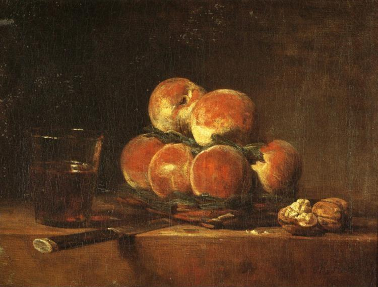 Jean-Baptiste-Simeon Chardin. A Basket of Peaches.