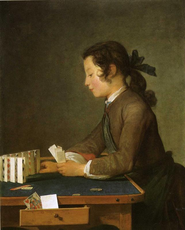 Jean-Baptiste-Simeon Chardin. The House of Cards.